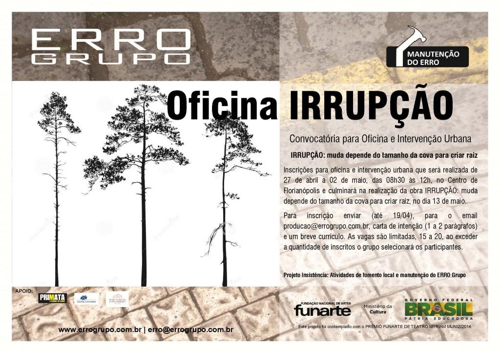 cartaz Irrupção web correto
